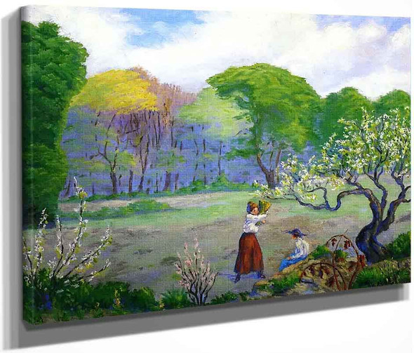 Picking Flowers By Paul Ranson