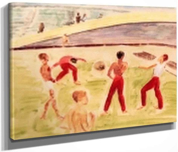 Playing Ball By Erich Heckel