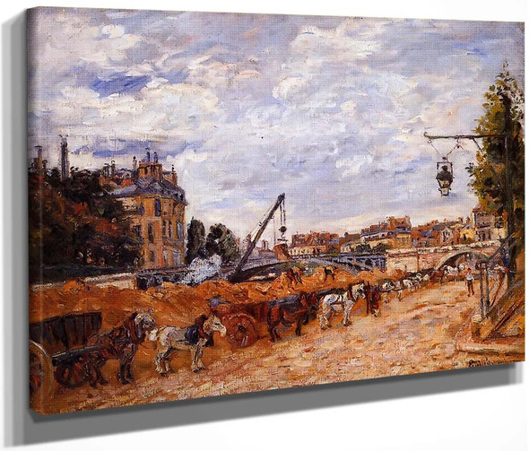 Pont Marie, Quai Sully By Armand Guillaumin