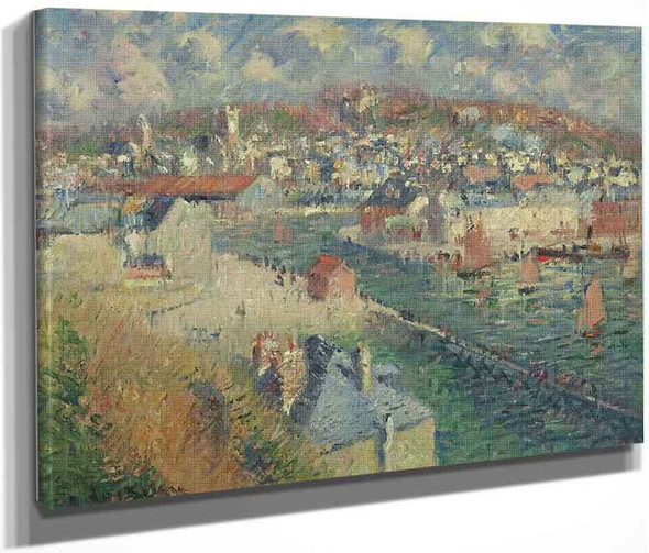 Port At Fecamp 1 By Gustave Loiseau By Gustave Loiseau