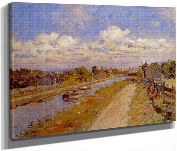 Port Ben Delaware And Hudson Canal By Theodore Robinson