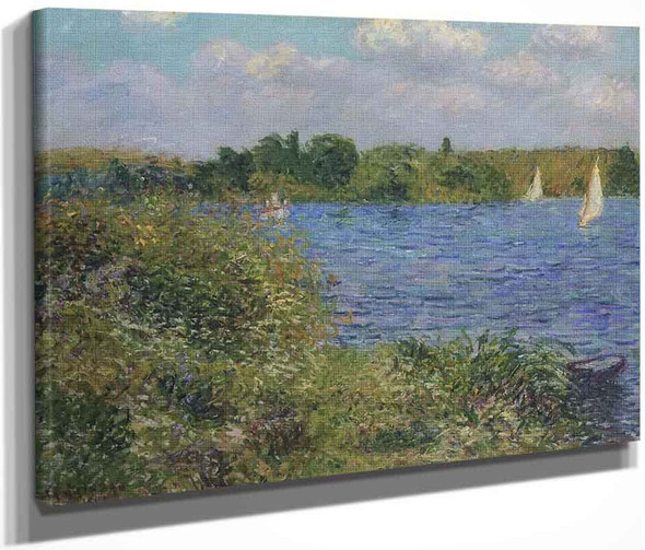 Port Joie At The Seine By Gustave Loiseau By Gustave Loiseau