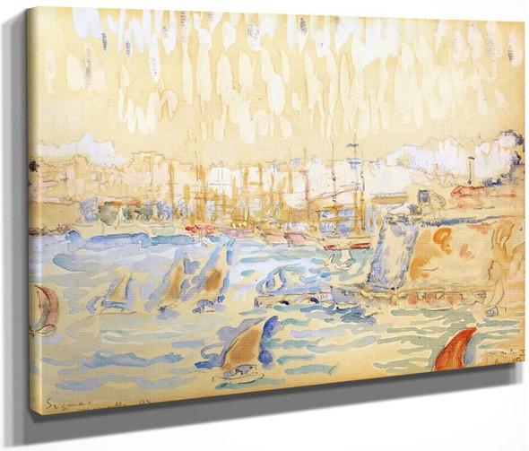 Port Of Marseille By Paul Signac