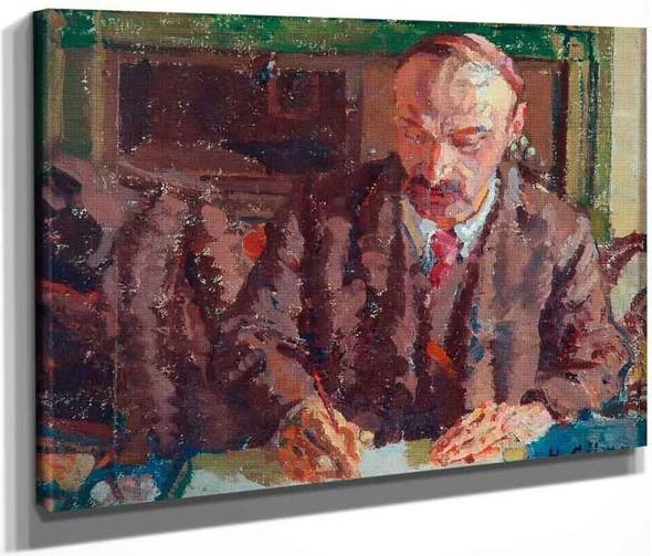 Portrait Of A Man By Harold Gilman