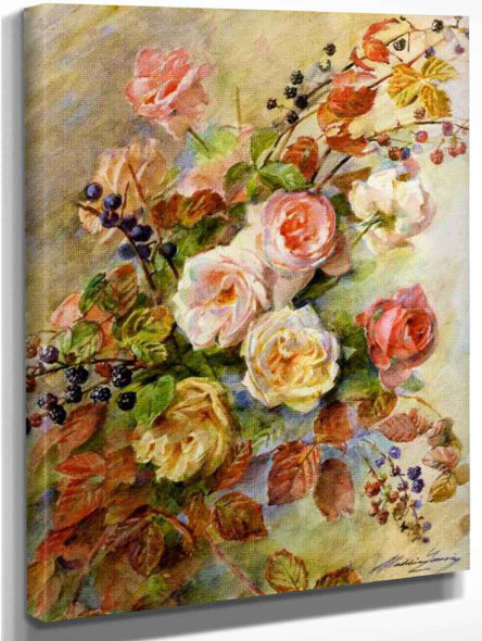 Autumn Roses By Madeleine Jeanne Lemaire