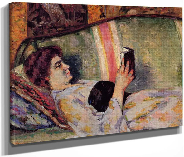 Portrait Of Marguerite Guillaumin Reading By Armand Guillaumin