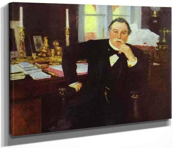 Portrait Of V. K. Pleve. By Ilia Efimovich Repin By Ilia Efimovich Repin