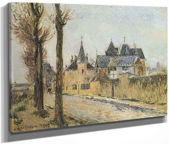 Pothius Quay In Pontoise By Gustave Loiseau By Gustave Loiseau