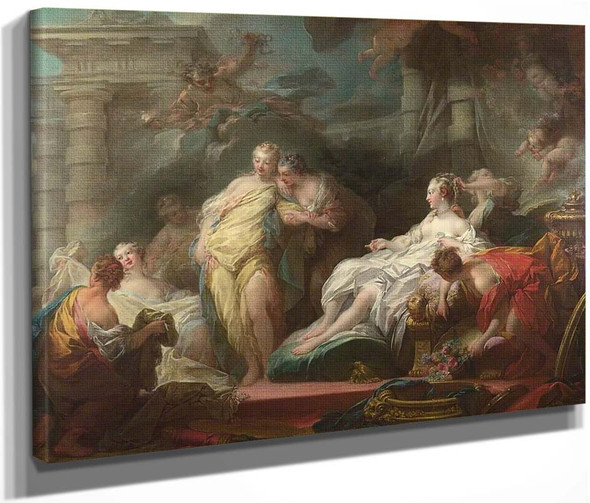 Psyche Showing Her Sisters Her Gifts From Cupid By Jean Honore Fragonard  By Jean Honore Fragonard