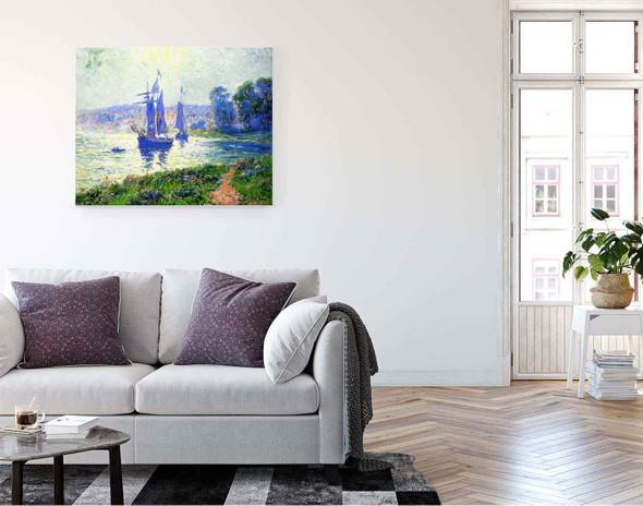 Quimper, The River By Henri Moret By Henri Moret