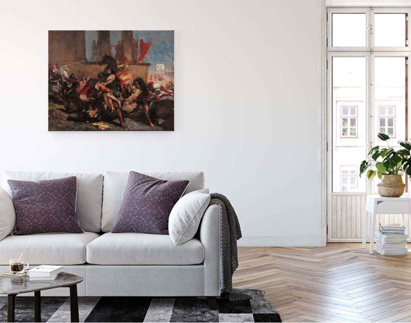 Rape Of The Sabine Women By Eugene Delacroix By Eugene Delacroix