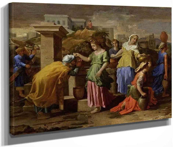 Rebecca And Eliezer At The Well By Nicolas Poussin By Nicolas Poussin