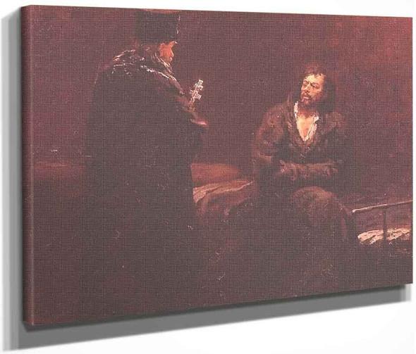 Refusal Of The Confession. By Ilia Efimovich Repin By Ilia Efimovich Repin