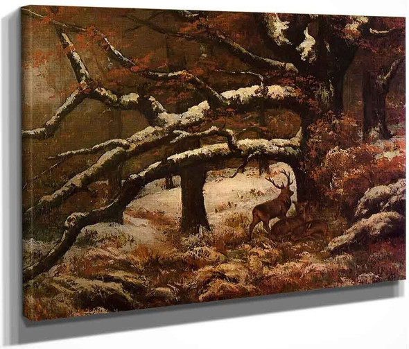 Remise De Cerfs By Gustave Courbet By Gustave Courbet