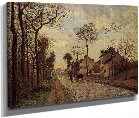 Road In Louveciennes By Camille Pissarro By Camille Pissarro
