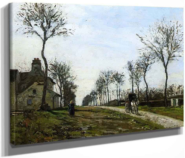 Road To Louveciennes By Camille Pissarro By Camille Pissarro