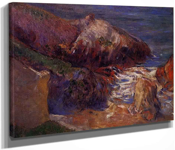 Rocks On The Coast By Paul Gauguin  By Paul Gauguin