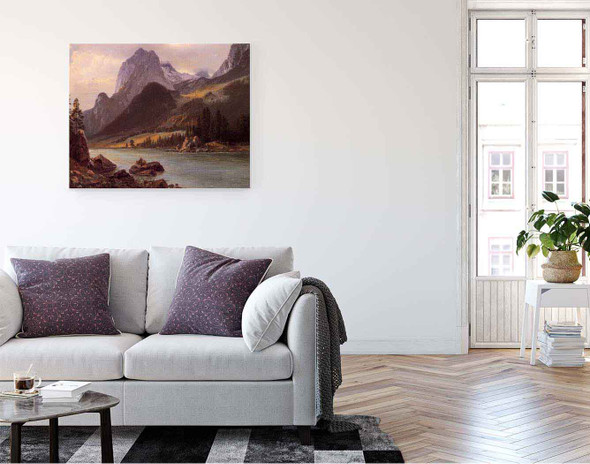 Rocky Mountain By Albert Bierstadt By Albert Bierstadt