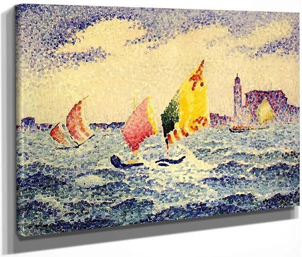Sailboats Near Chicago By Henri Edmond Cross By Henri Edmond Cross