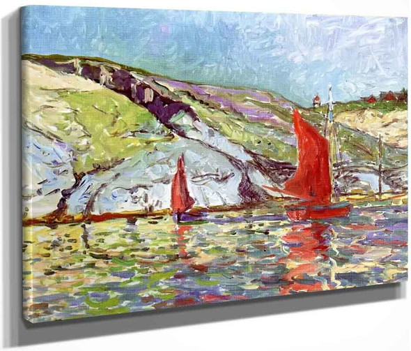 Sailboats Off The Coast By Maxime Maufra By Maxime Maufra