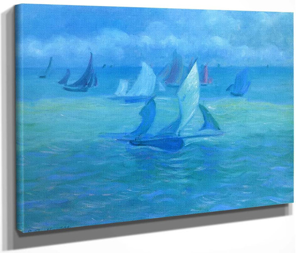Sailboats On The Water By Theodore Earl Butler