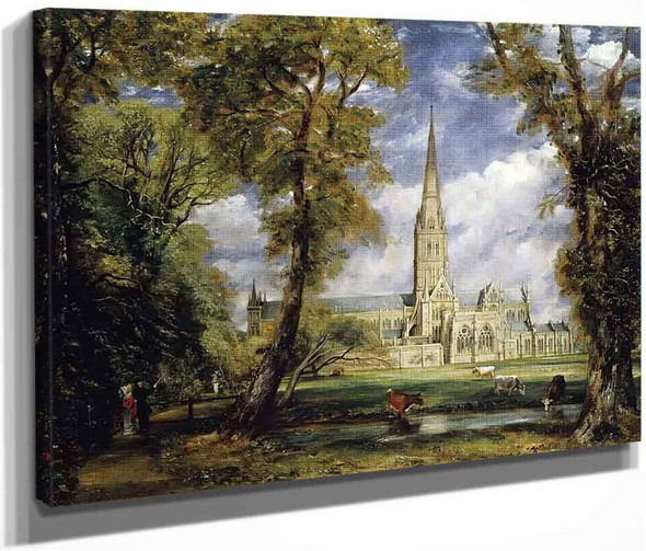 Salisbury Cathedral From The Bishop's Garden By John Constable By John Constable