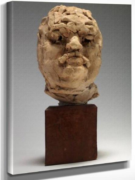 Balzac (Clay Study Of Head) By Auguste Rodin(French, 1840 1917)