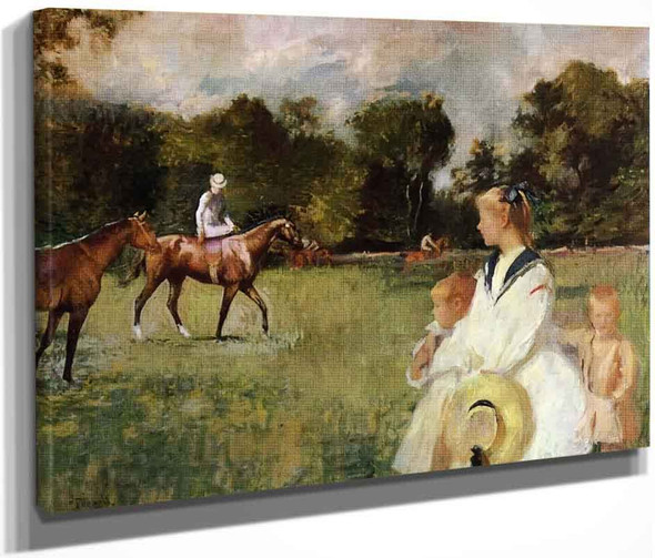Schooling The Horses By Edmund Tarbell
