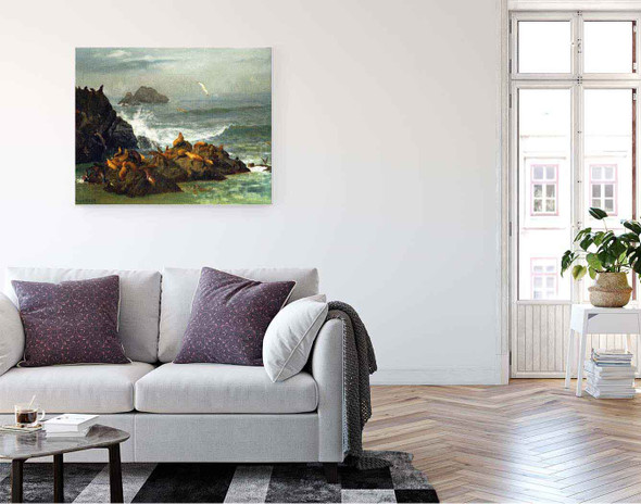 Seal Rocks, Pacific Ocean, California By Albert Bierstadt By Albert Bierstadt