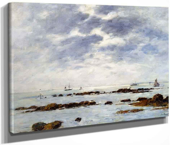 Seascape At St. Vaast La Hougue  By Eugene Louis Boudin By Eugene Louis Boudin
