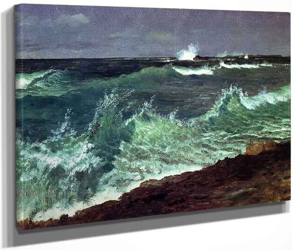 Seascape By Albert Bierstadt By Albert Bierstadt