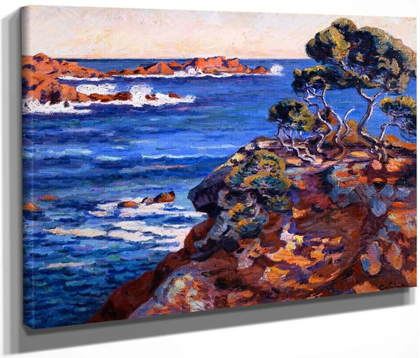 Seaside At Agay By Armand Guillaumin