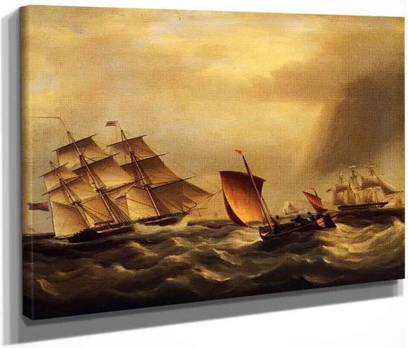 Ship Of The Line Uss Ohio1 By James E. Buttersworth By James E. Buttersworth