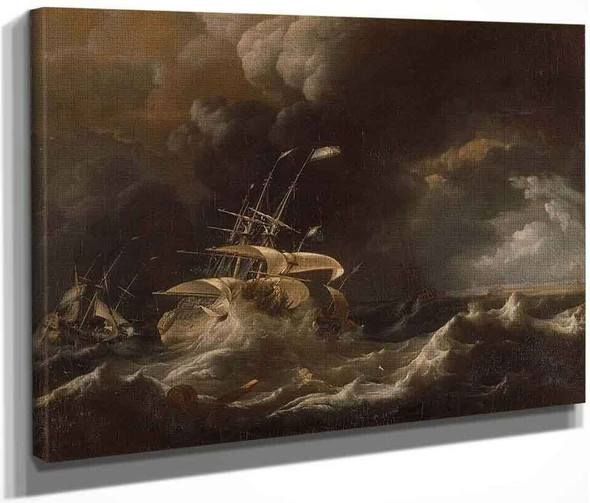 Ships In A Storm By Ludolf Bakhuizen, Aka Ludolf Backhuysen By Ludolf Bakhuizen