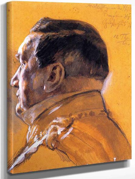 Baron Von Der Heydt, Minister Of State By Adolph Von Menzel By Adolph Von Menzel