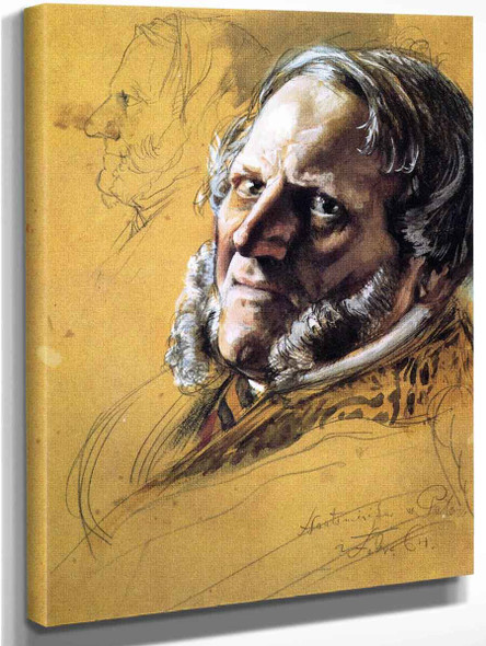 Baron Von Patow, Minister Of State By Adolph Von Menzel By Adolph Von Menzel
