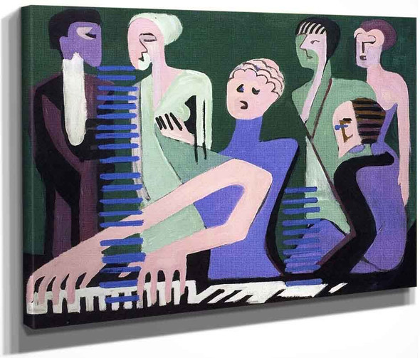 Singer At The Piano By Ernst Ludwig Kirchner By Ernst Ludwig Kirchner