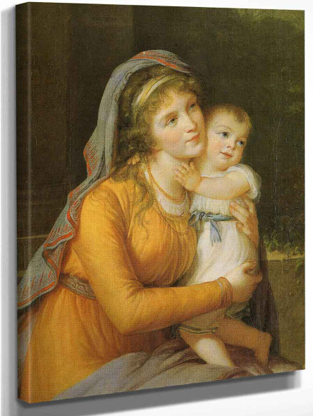Baroness Anna Sergeevna Stroganova And Her Son Sergey By Elisabeth Vigee Lebrun