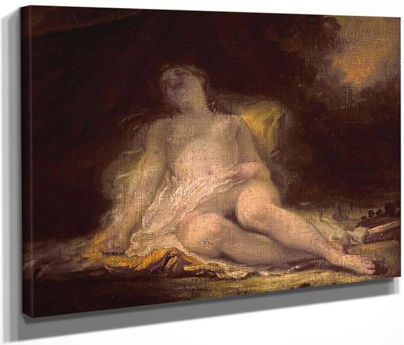 Sleeping Bacchante By Jean Honore Fragonard  By Jean Honore Fragonard