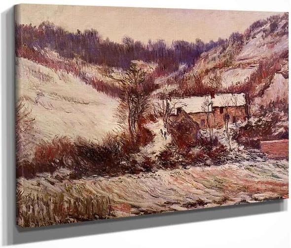 Snow Effect At Falaise By Claude Oscar Monet