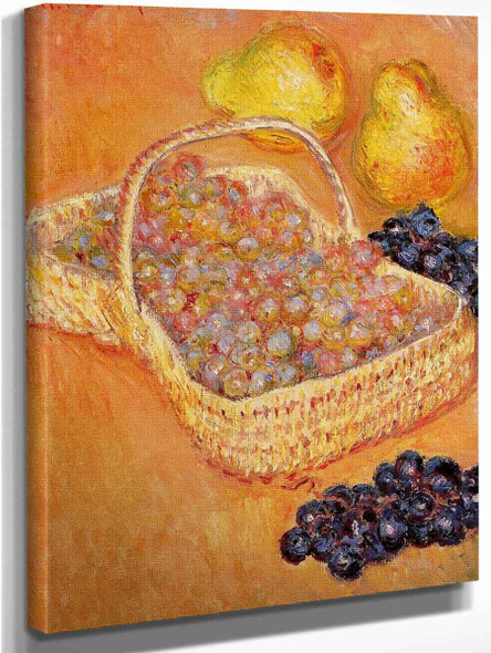 Basket Of Grapes, Quinces And Pears By Claude Oscar Monet