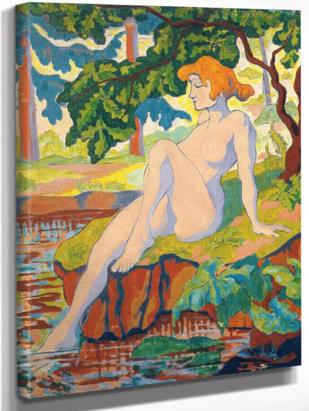 Bather Dipping Her Foot By Paul Ranson