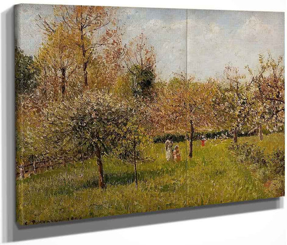 Spring At Eragny By Camille Pissarro By Camille Pissarro