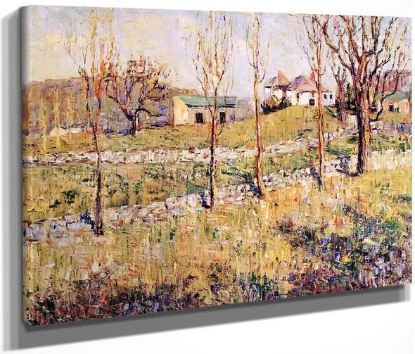 Spring Hillside By Ernest Lawson