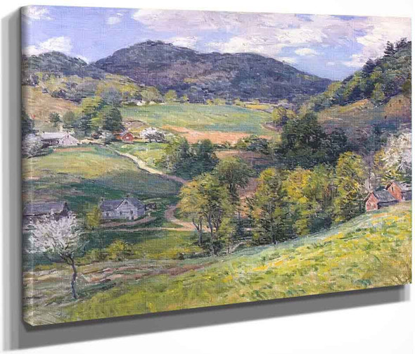 Spring In The Valley By Willard Leroy Metcalf By Willard Leroy Metcalf