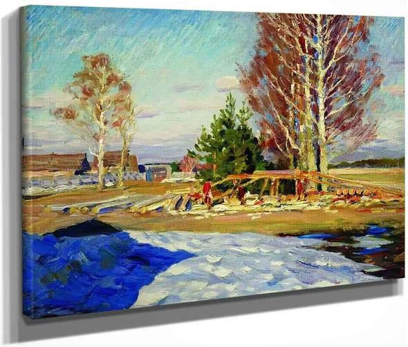 Spring Landscape 2 By Sergei Arsenevich Vinogradov Russian 1869 1938