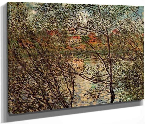 Springtime Through The Branches By Claude Oscar Monet