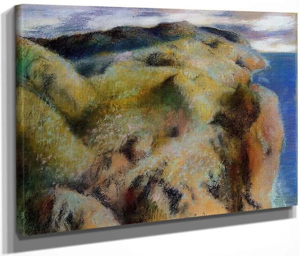 Steep Coast By Edgar Degas By Edgar Degas