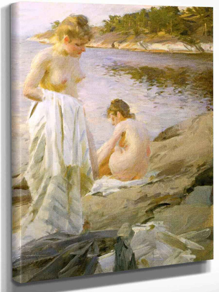 Bathers By Anders Zorn