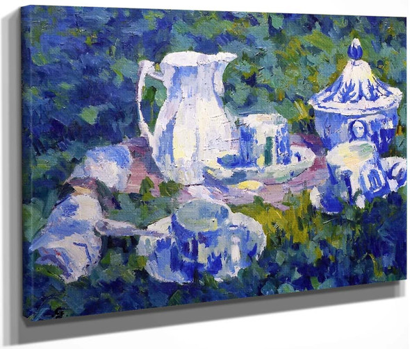 Still Life In The Garden By Giovanni Giacometti By Giovanni Giacometti